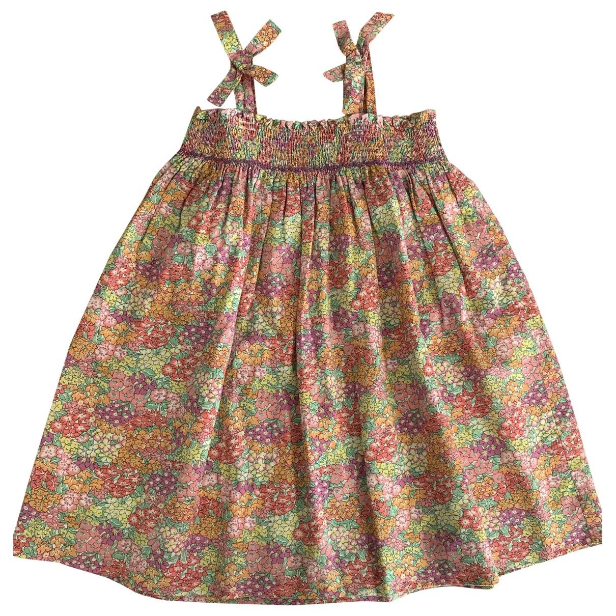 - Robe    pour enfant en coton - multicolore