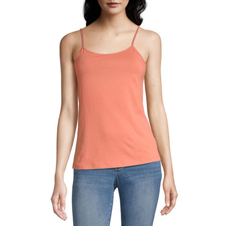 a.n.a Womens Scoop Neck Camisole, X-large , Orange