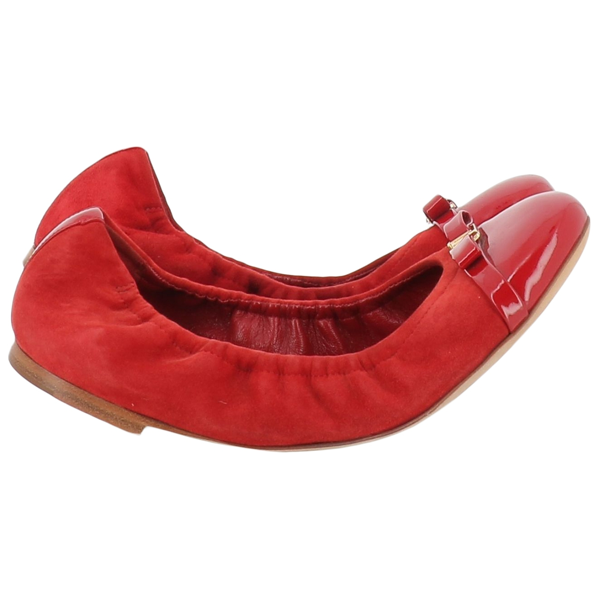 Louis Vuitton \N Red Suede Ballet flats for Women 37 EU
