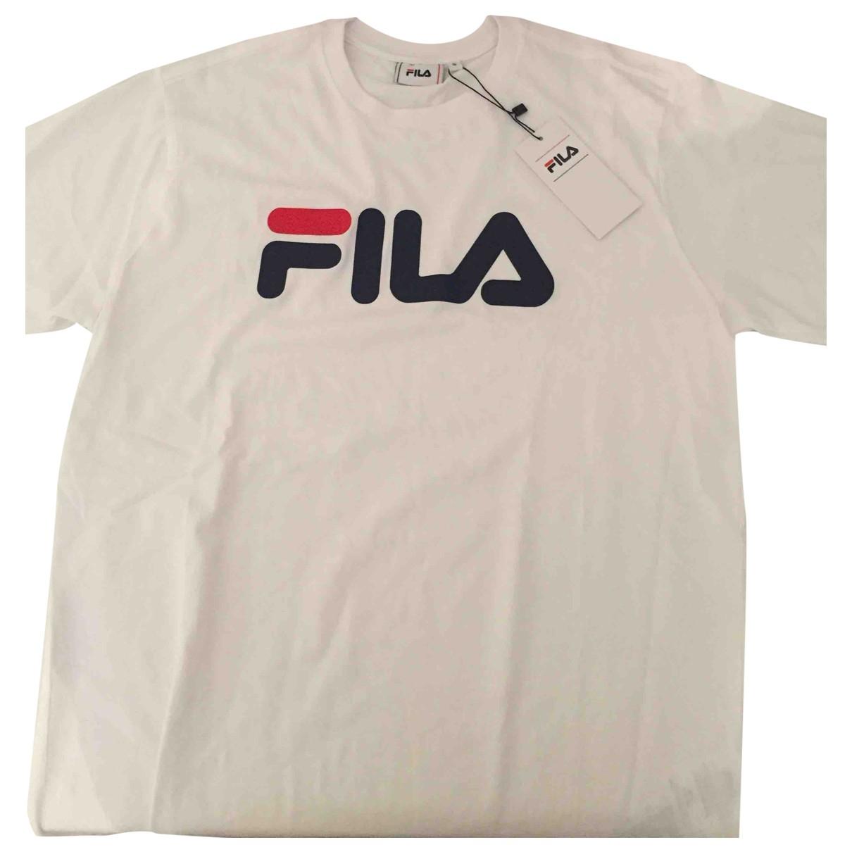 Fila - Top   pour femme en coton - blanc