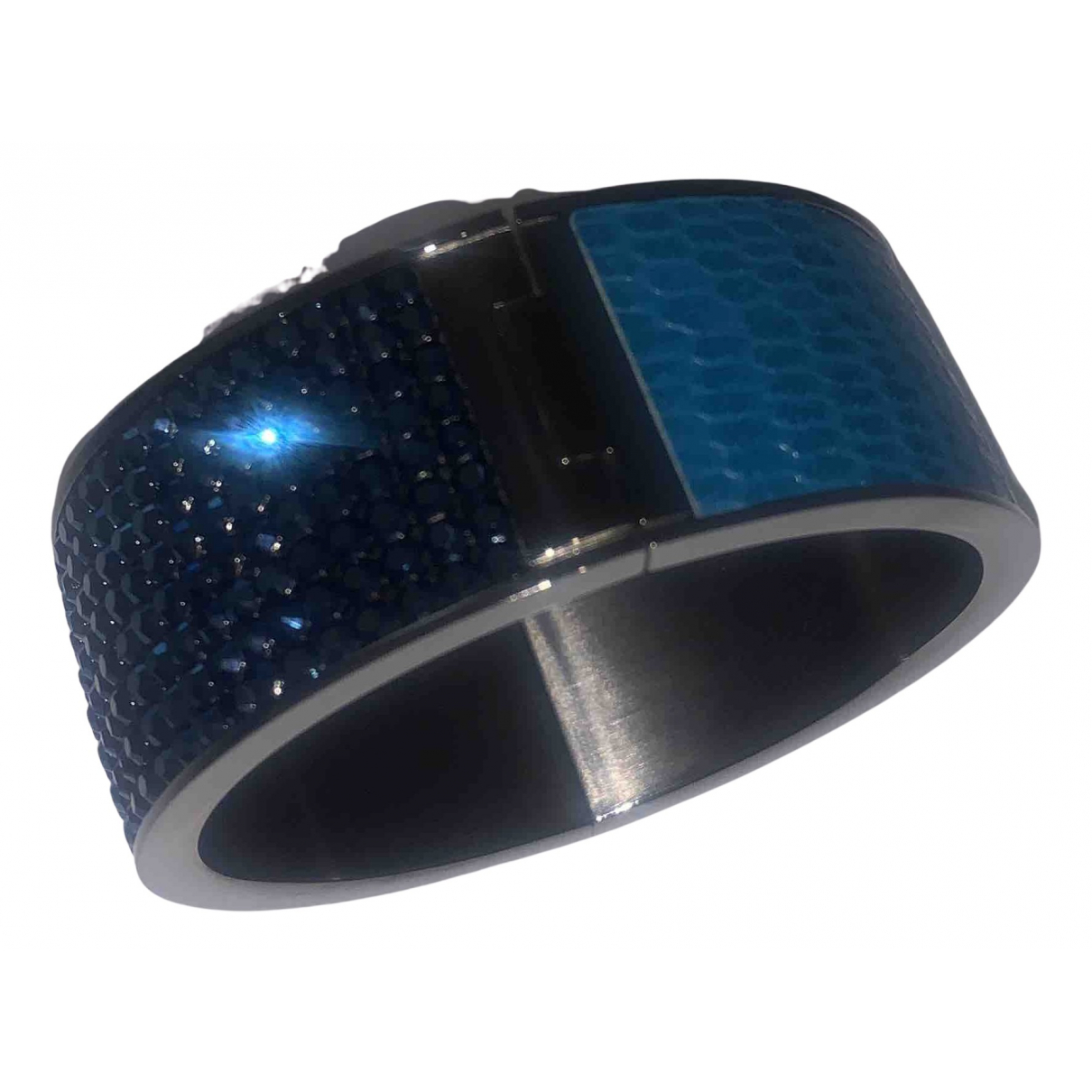 Swarovski \N Armband in  Blau Metall