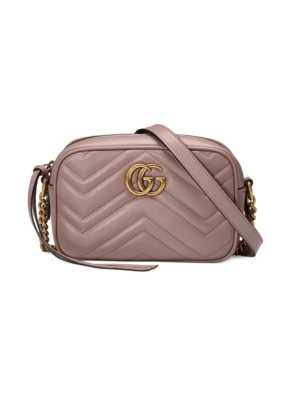 Gg Marmont Mini Leather Crossbody Bag