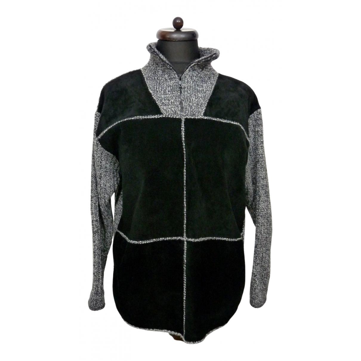 Non Signe / Unsigned Oversize Pullover.Westen.Sweatshirts  in  Schwarz Wolle