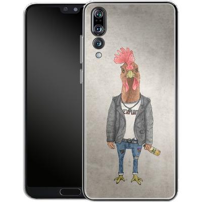 Huawei P20 Pro Silikon Handyhuelle - Punk Rooster von Barruf