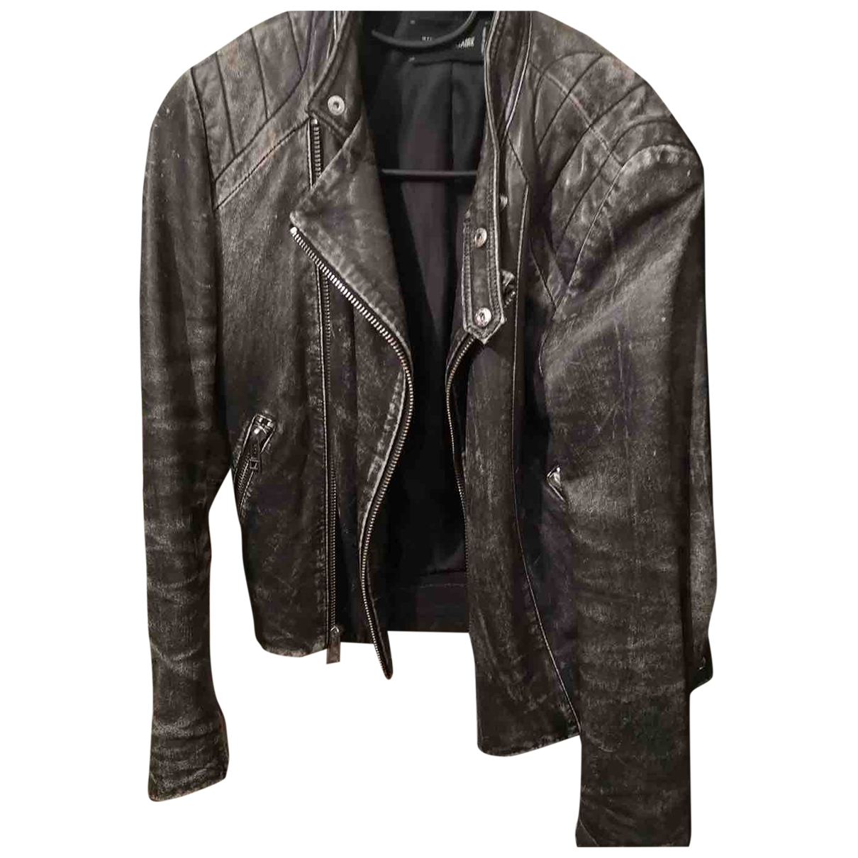 Zadig & Voltaire \N Black Leather Leather jacket for Women 36 FR