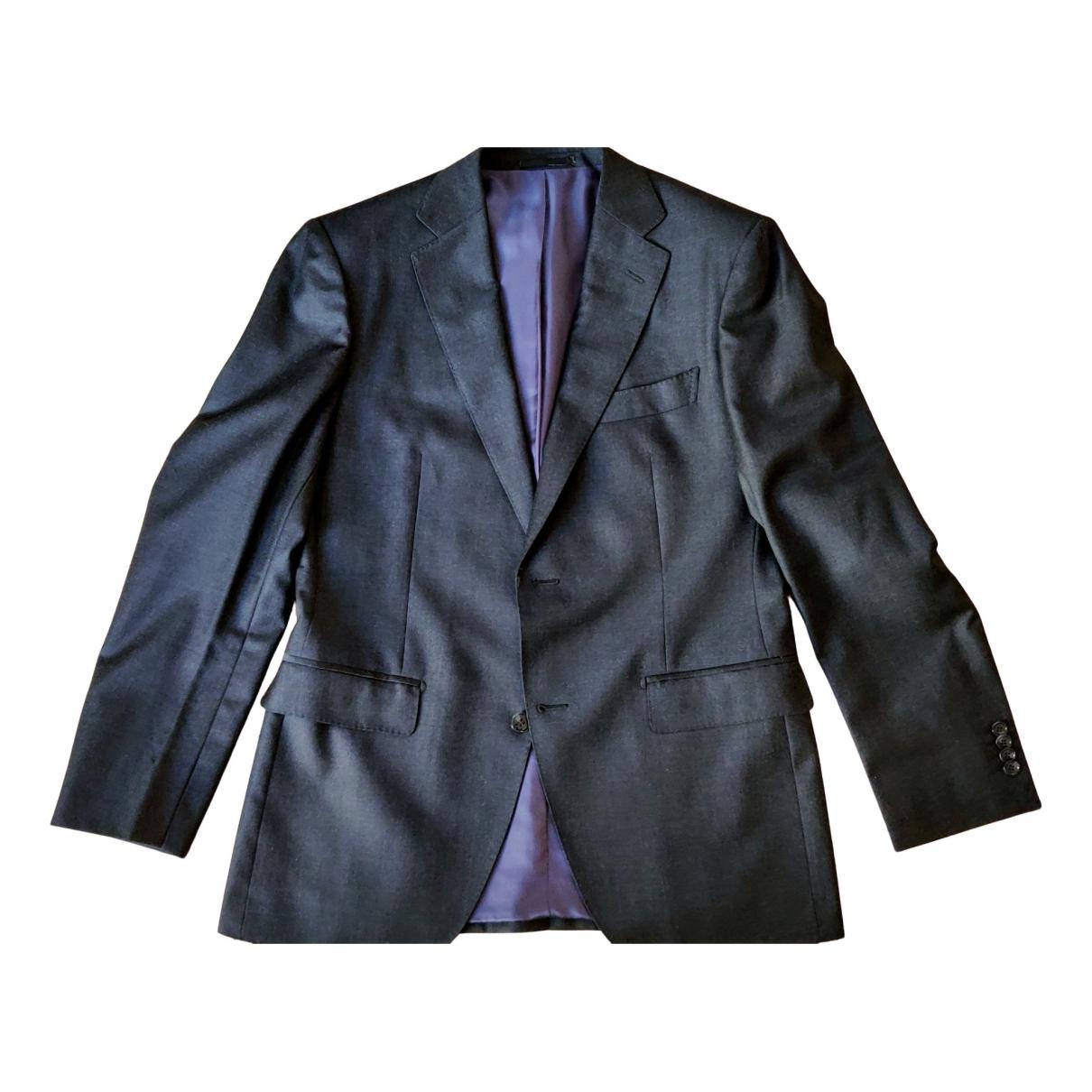 Suitsupply - Costumes   pour homme en laine - anthracite