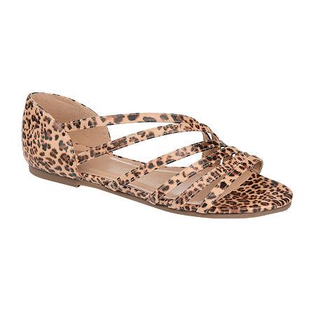 Journee Collection Womens Divina Strap Sandals, 7 Medium, Multiple Colors