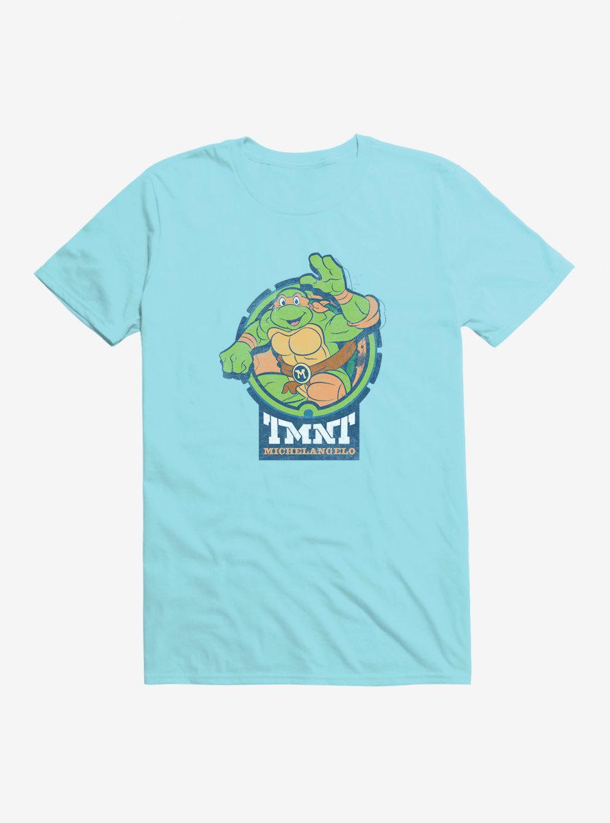 Teenage Mutant Ninja Turtles Michelangelo Badge T-Shirt