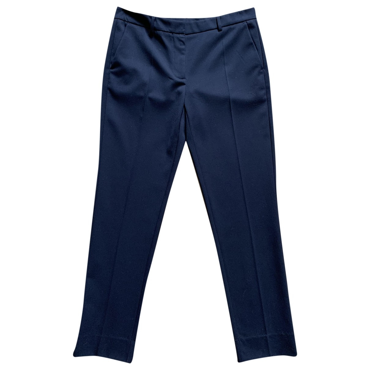 Mauro Grifoni \N Blue Wool Trousers for Women 42 IT