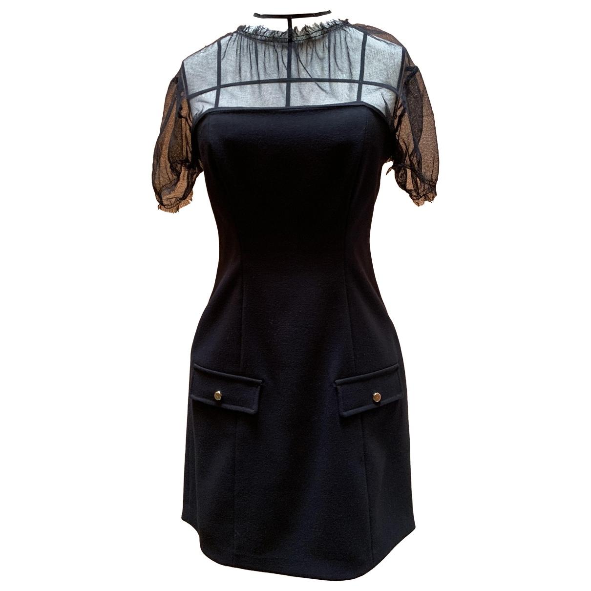 Elisabetta Franchi - Robe   pour femme en laine - noir