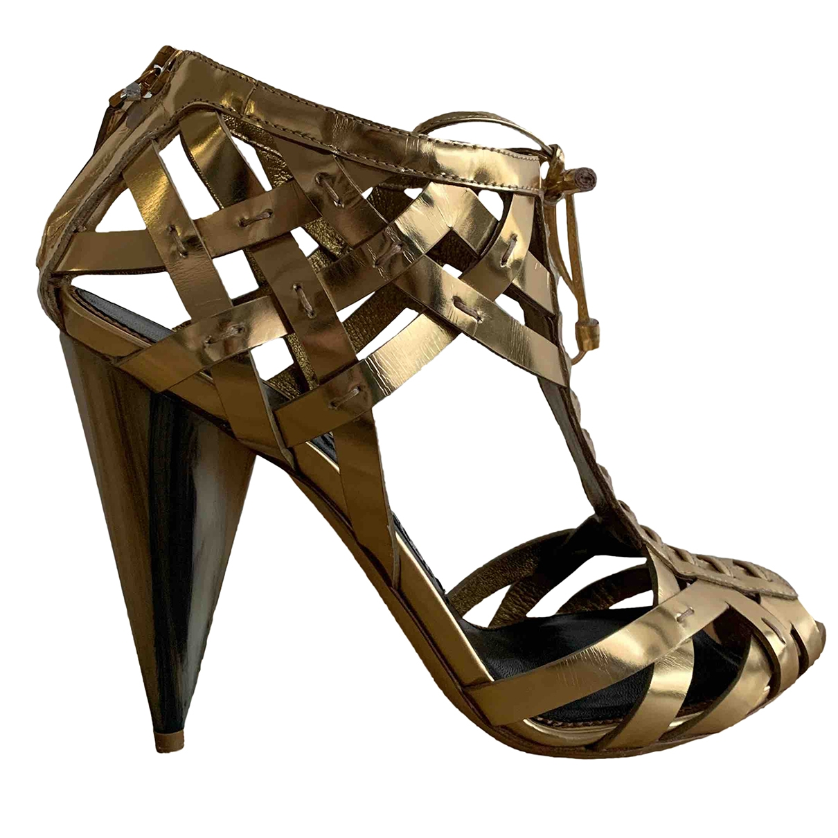 Tom Ford \N Sandalen in  Gold Leder