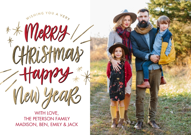 Christmas Photo Cards 5x7 Cards, Premium Cardstock 120lb, Card & Stationery -Christmas Winter Wishes by Tumbalina