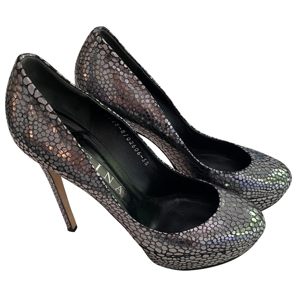 Gina \N Metallic Leather Heels for Women 5.5 UK