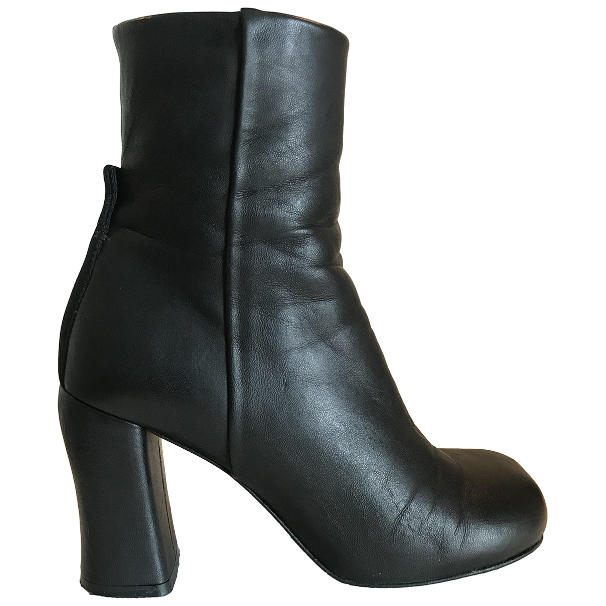 Joseph \N Black Leather Ankle boots for Women 36.5 EU