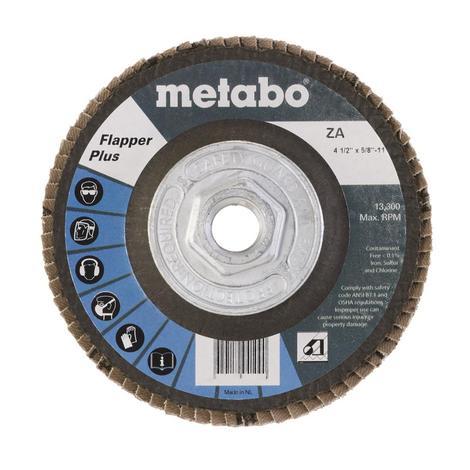Metabo 4 1/2 In. Flapper Plus 60 5/8 In.-11 T27 Fiberglass