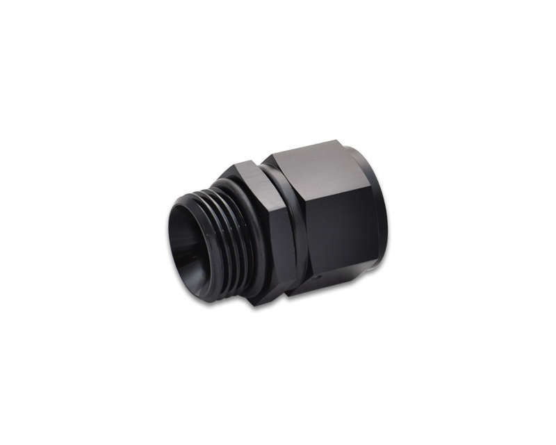 Vibrant Performance 16864 Anodized Black-10AN Female to -8AN Male Straight Cut Adapter with O-Ring