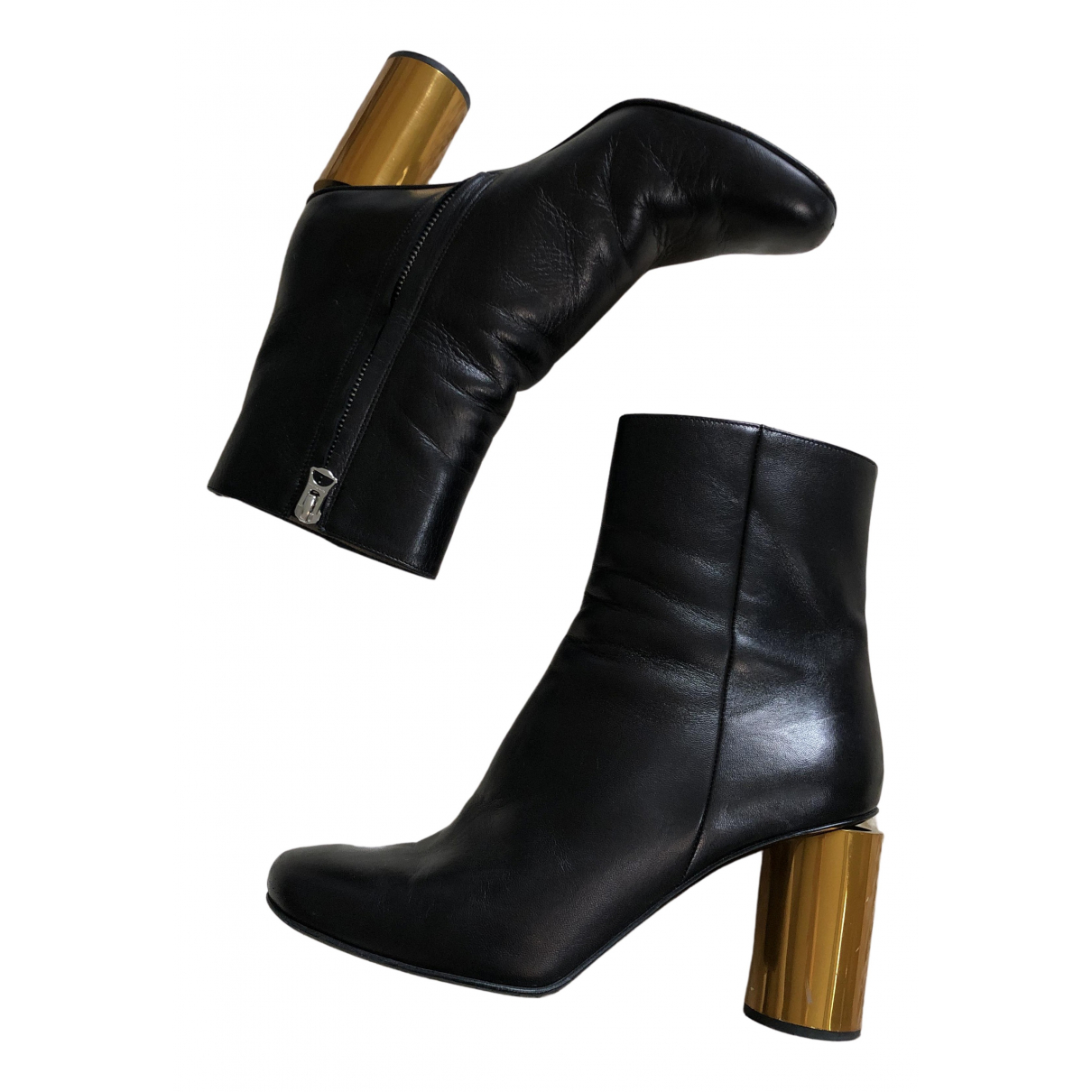 Acne Studios N Black Leather Ankle boots for Women 38 EU