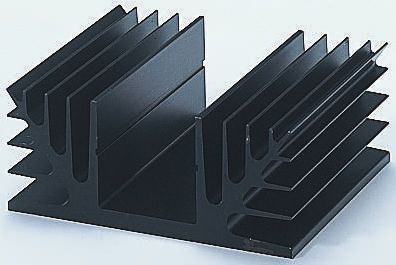 Fischer Elektronik Heatsink, 1.9K/W, 75 x 88 x 35mm, Black