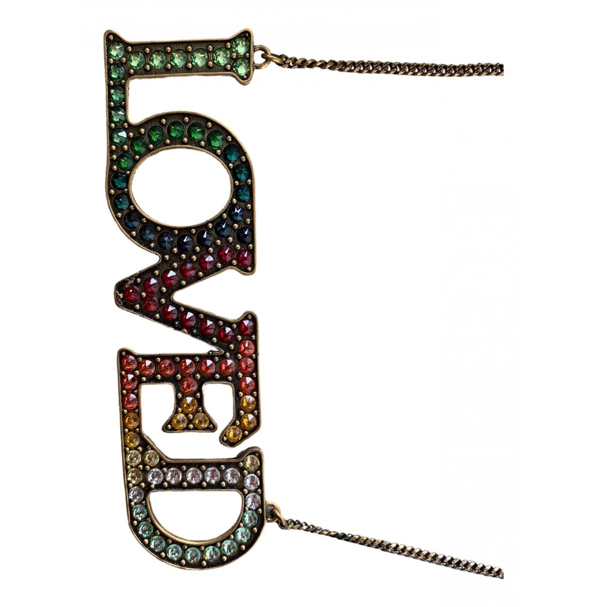 Gucci - Collier   pour femme en metal - multicolore