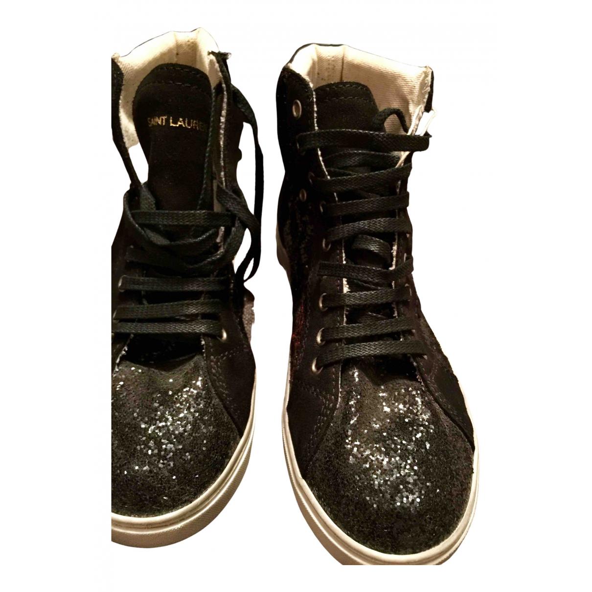 Saint Laurent \N Sneakers in  Schwarz Mit Pailletten