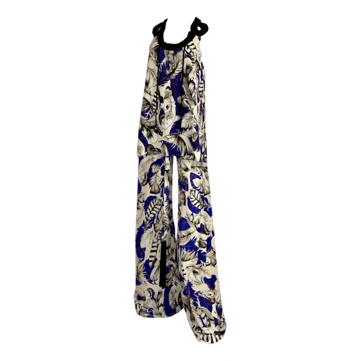 Roberto Cavalli \N Multicolour Silk jumpsuit for Women 44 IT
