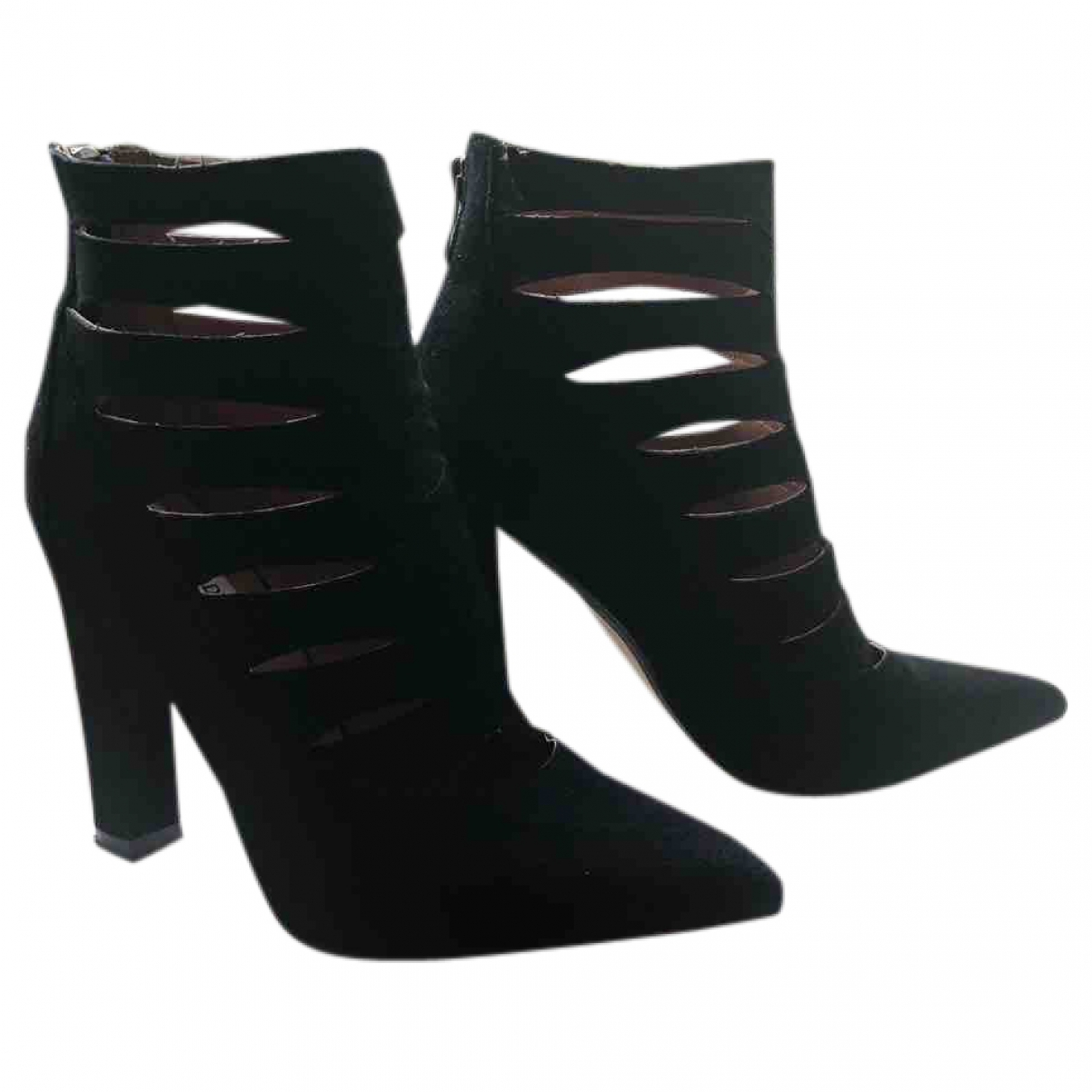 Steve Madden \N Black Suede Ankle boots for Women 5 UK