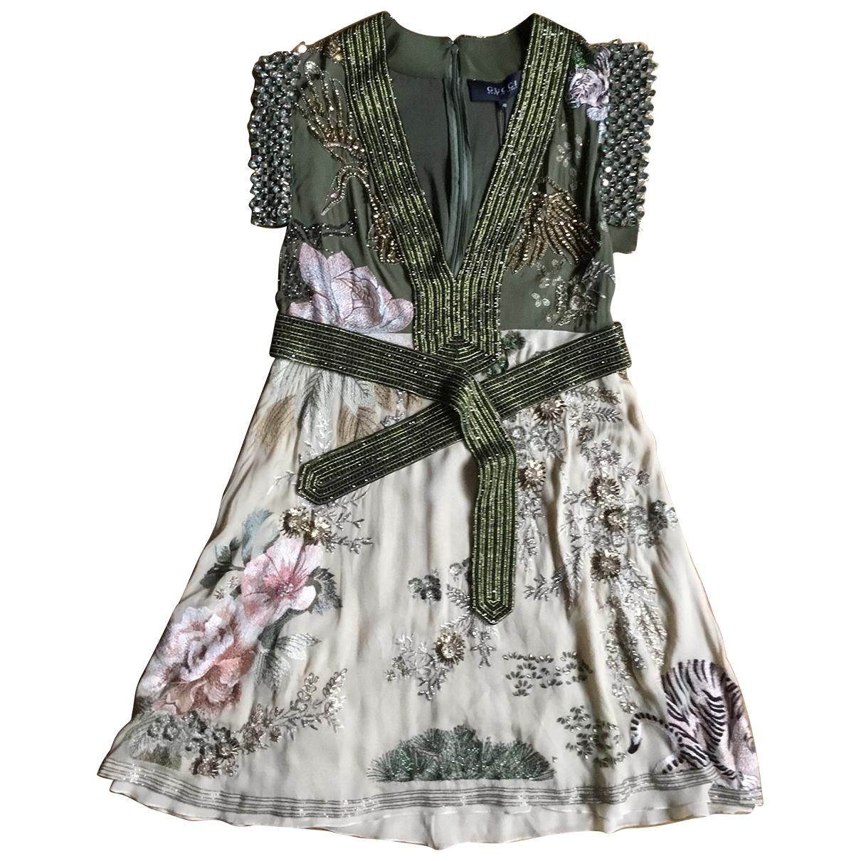 Gucci \N Kleid in  Gruen Seide