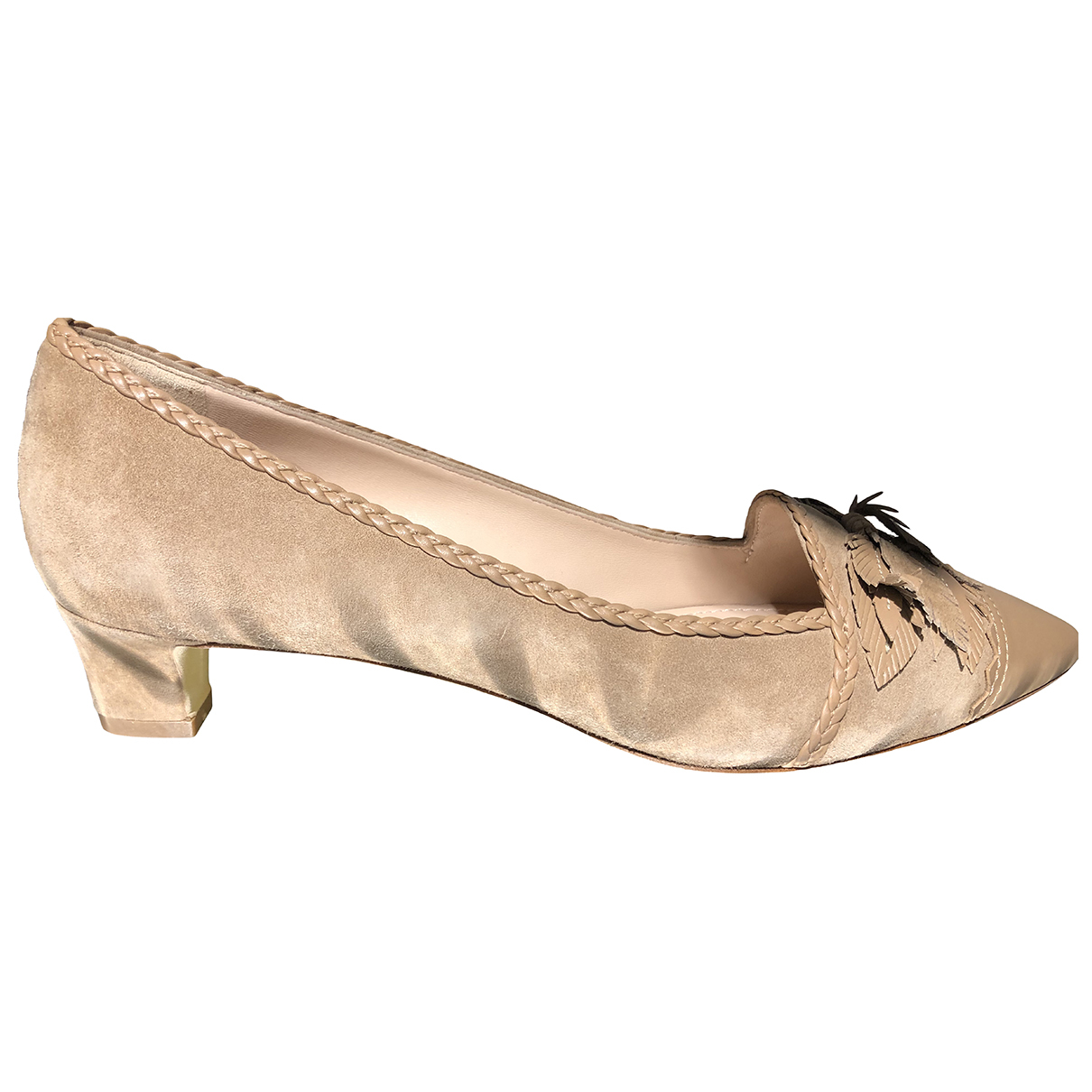 Tod's \N Beige Suede Heels for Women 40.5 EU