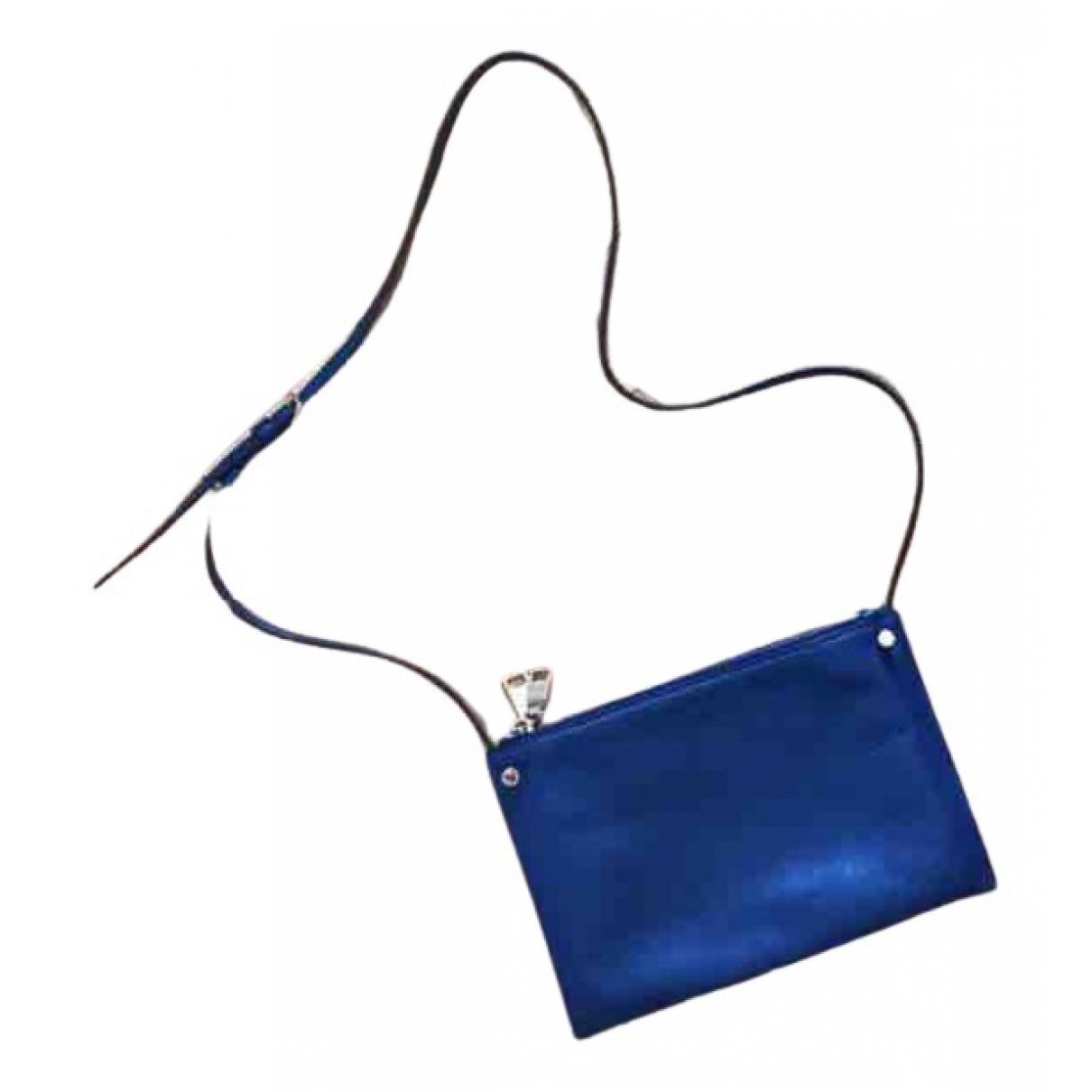 Sandro Addict Handtasche in  Blau Leder