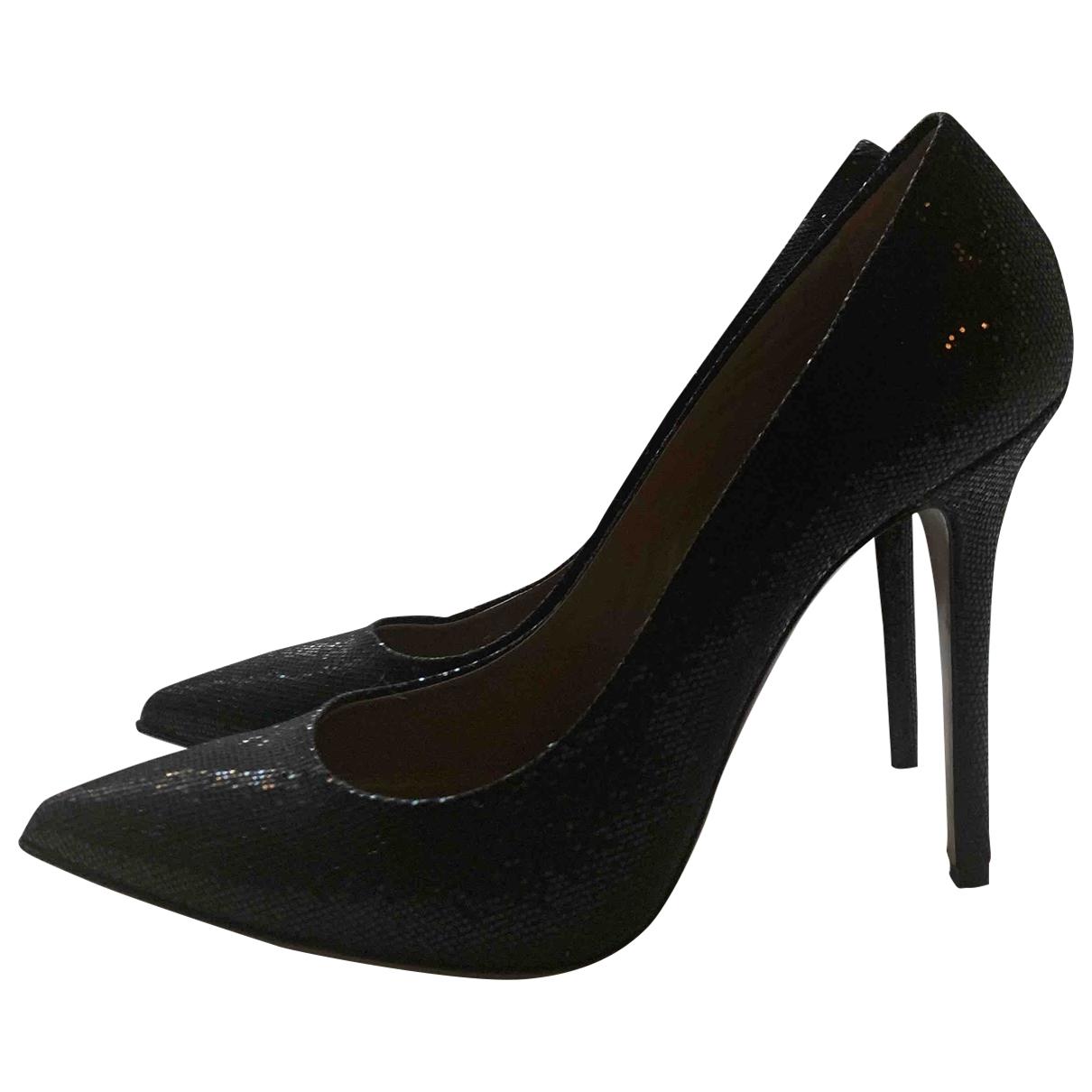 - Escarpins   pour femme en a paillettes - noir