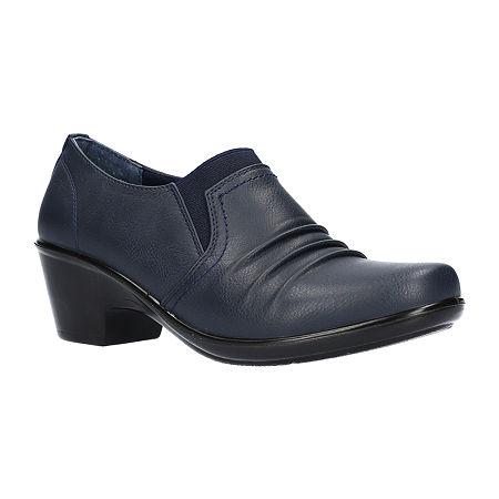 Easy Street Womens Kesley Clogs, 7 Medium, Blue