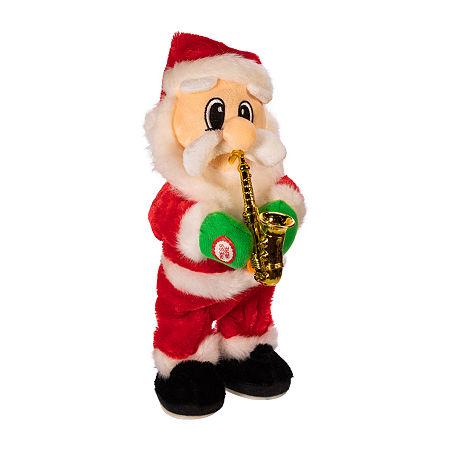 Kurt Adler 14-Inch Battery-Operated Dancing Jazz Santa Christmas Figurine, One Size , Multiple Colors