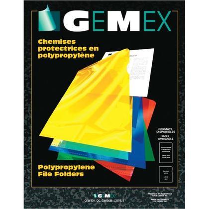 GEMEX@ translucide polypropylene de protection deux dossiers sealed, 10 dossiers par paquet - clair, lettre