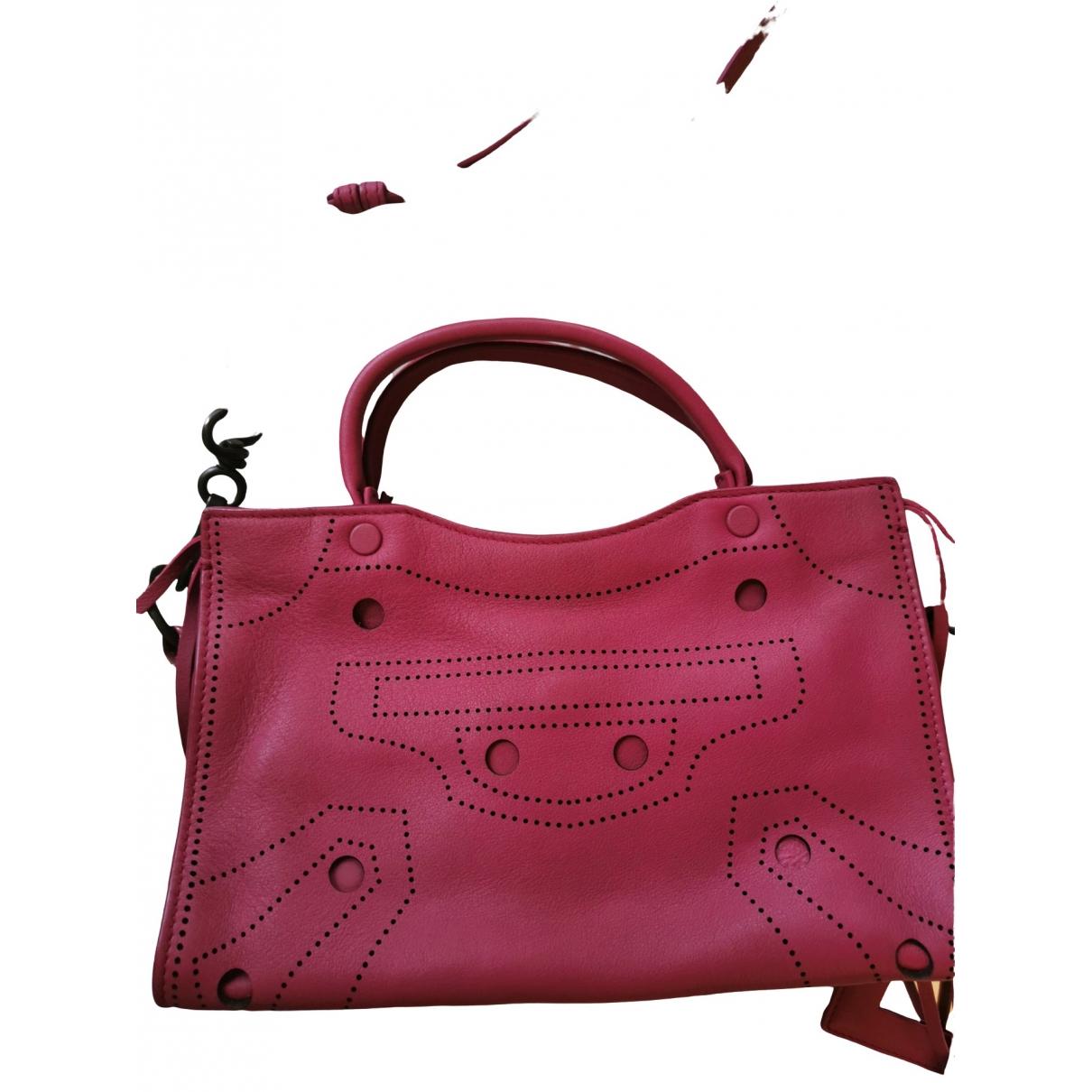 Balenciaga Blackout Pink Leather handbag for Women \N