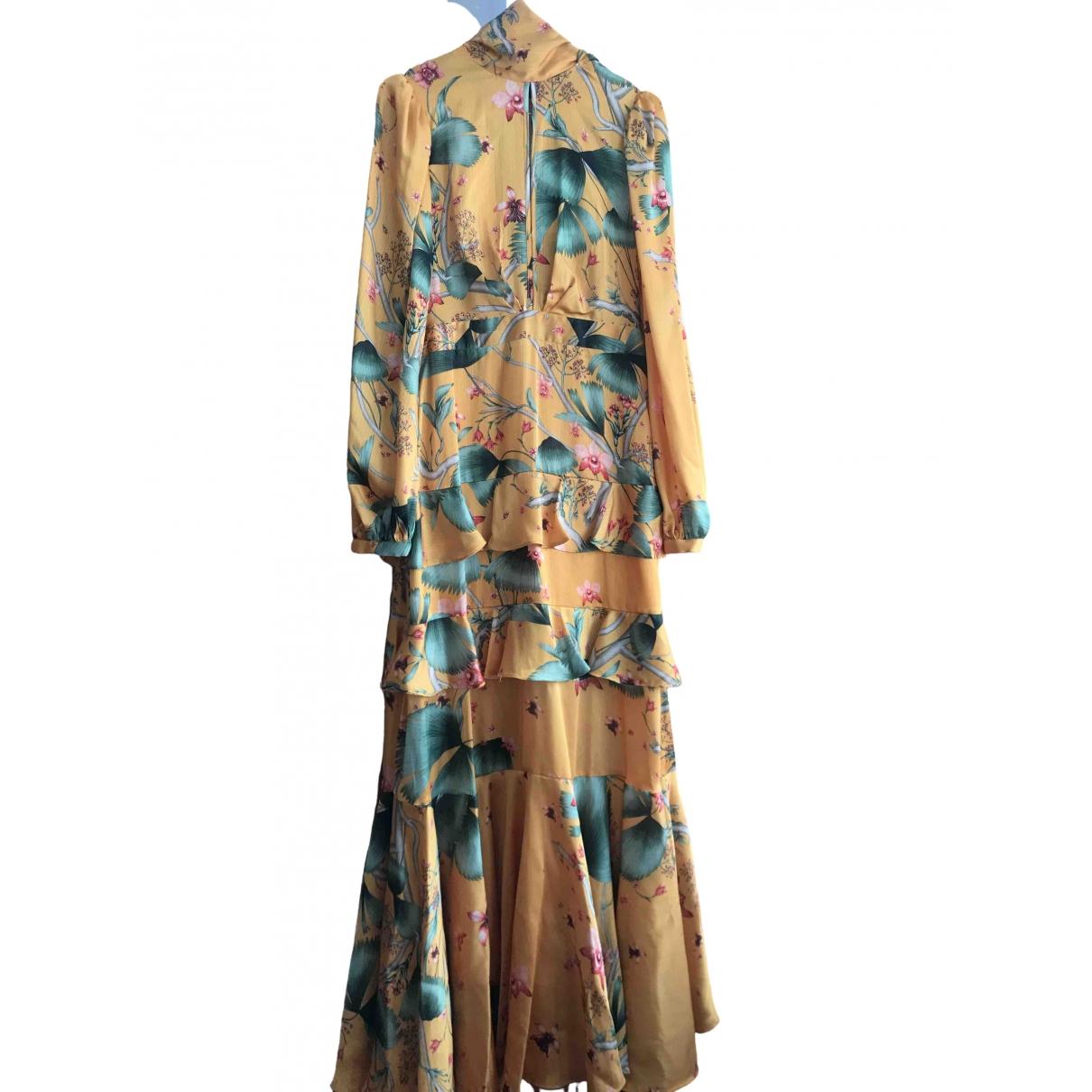 Johanna Ortiz X H&m \N Kleid in  Gelb Polyester