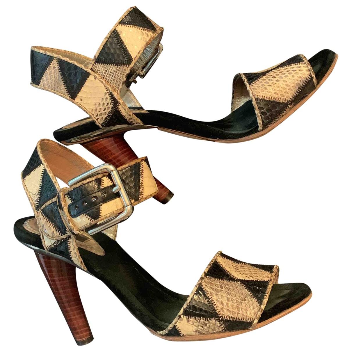 Dolce & Gabbana \N Sandalen in  Schwarz Python