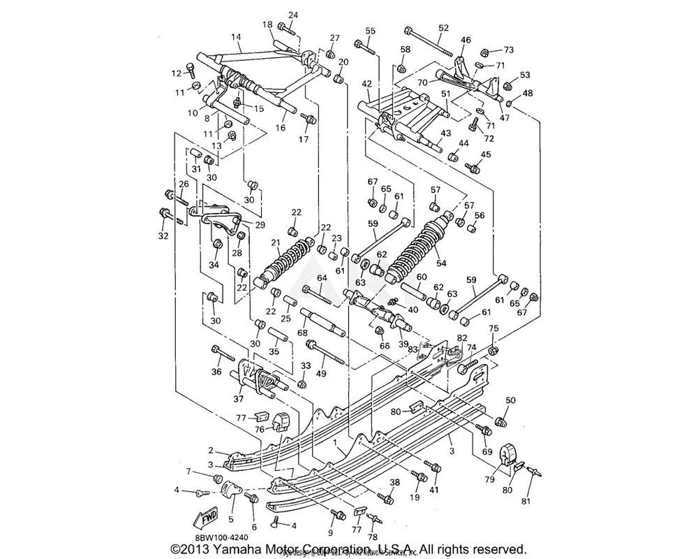 Yamaha OEM 90101-10738-00 BOLT   (5GS5)