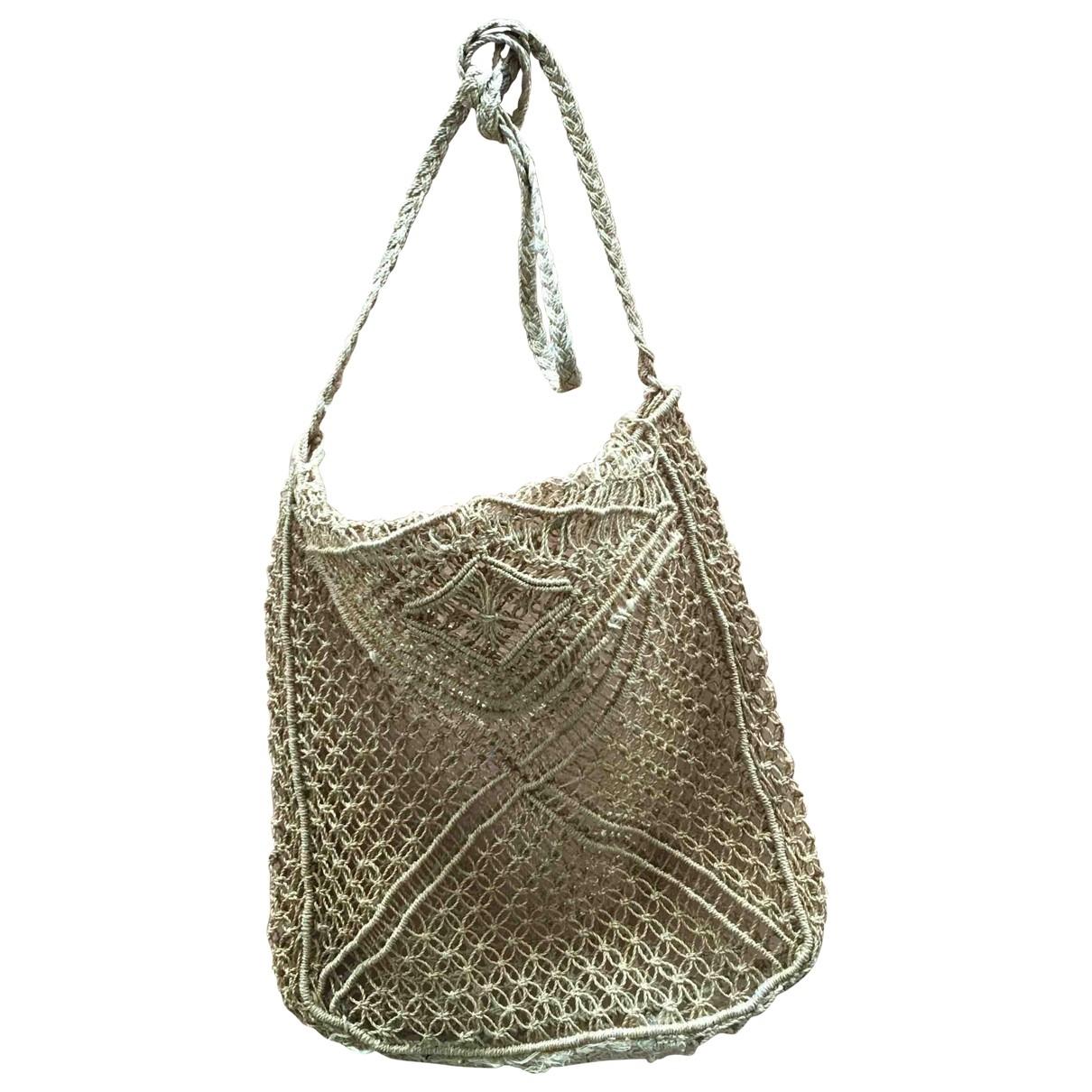 Non Signé / Unsigned Hippie Chic Beige Wicker handbag for Women \N