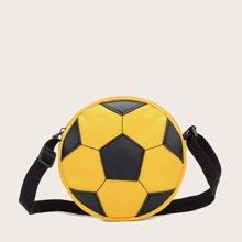 Maedchen Segeltuch Umhaengetasche mit Fussball Design