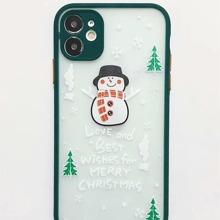 Christmas Snowman Pattern iPhone Case