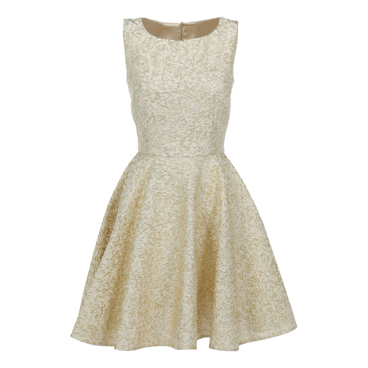 Dolce & Gabbana \N Kleid in  Gold Synthetik