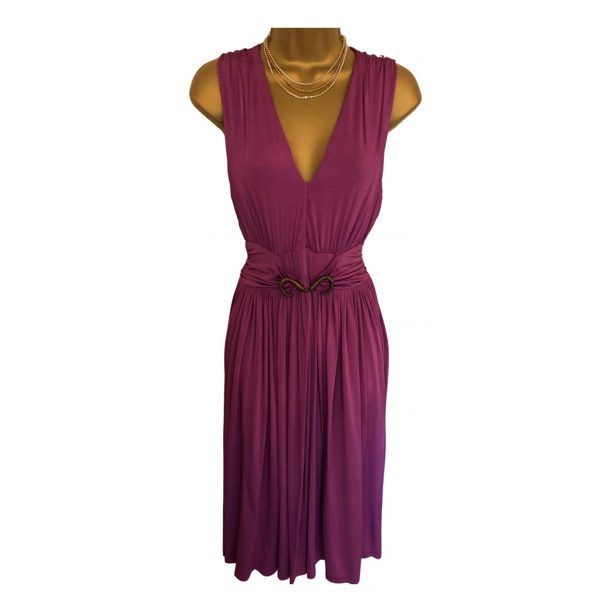 Just Cavalli \N Kleid in  Lila Viskose