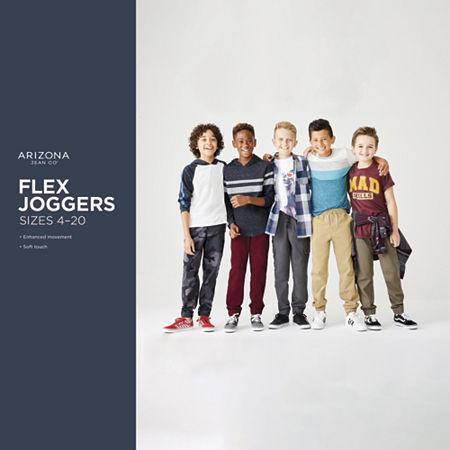 Arizona Little & Big Boys Cinched Jogger Pant, Small Husky , Black