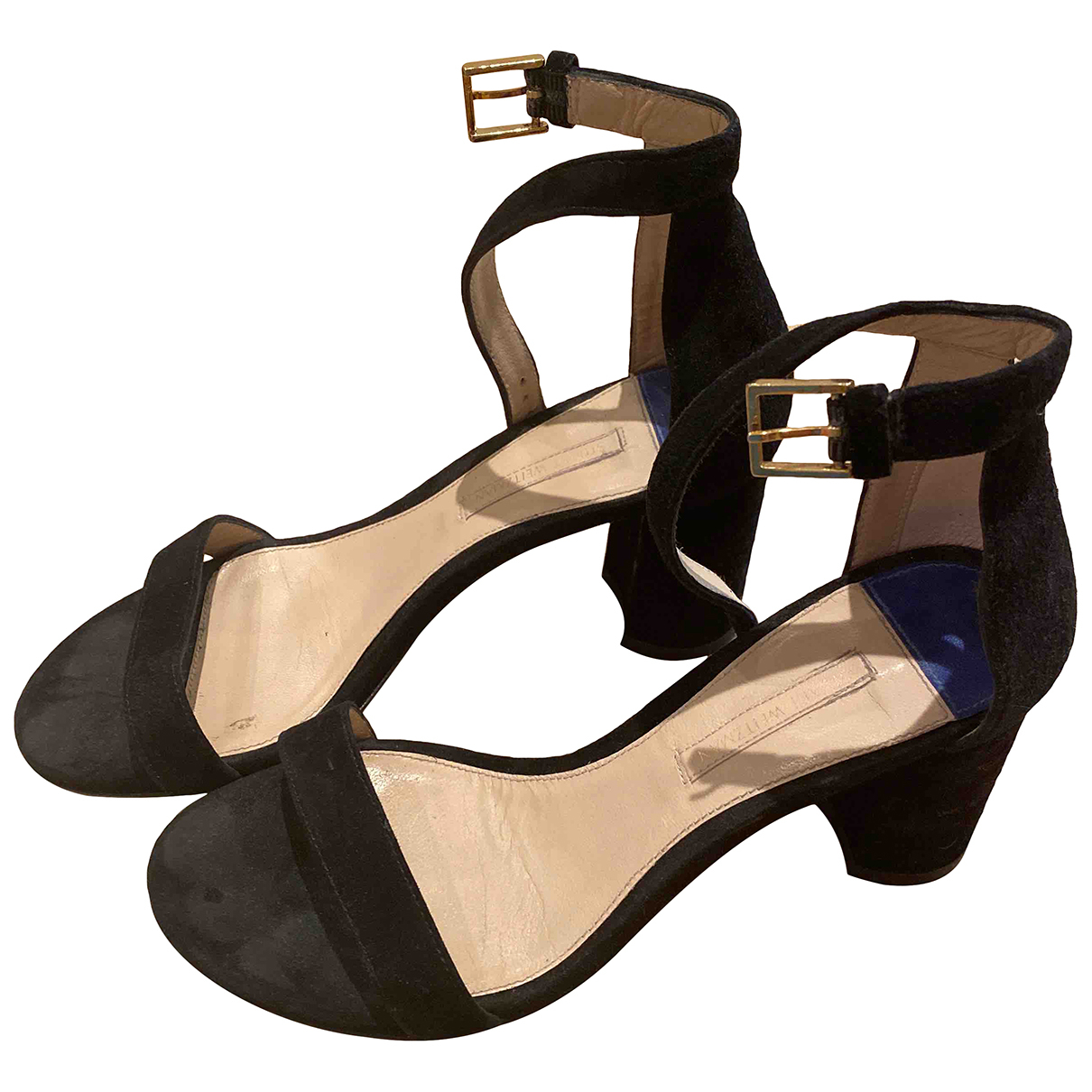 Stuart Weitzman N Black Suede Heels for Women 36 EU