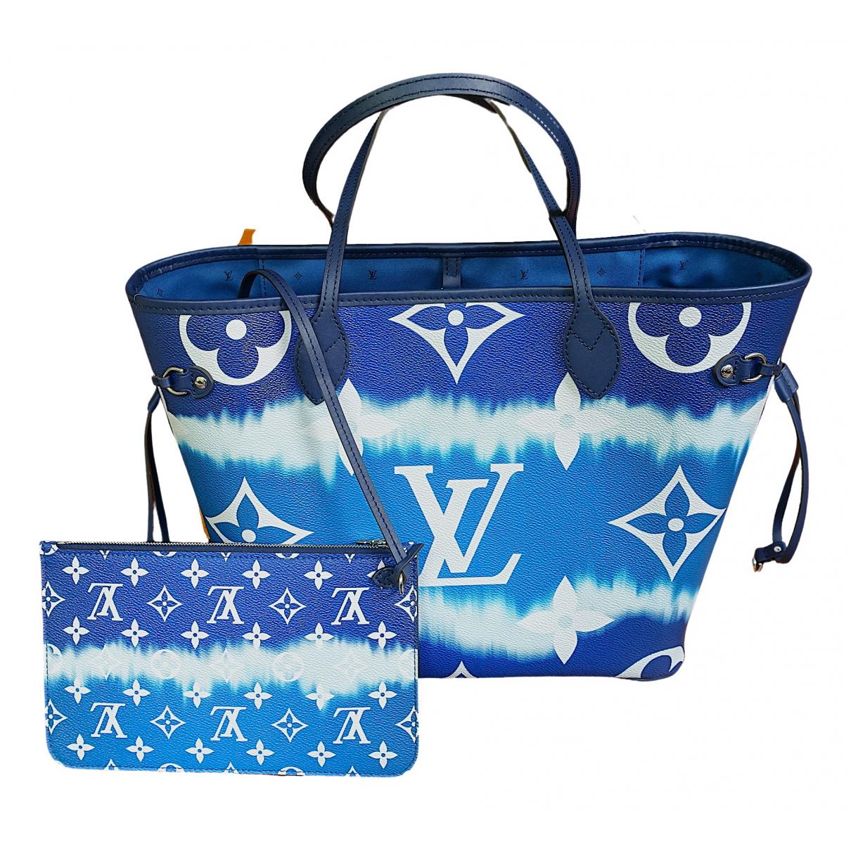 Louis Vuitton Neverfull Blue Cloth handbag for Women \N
