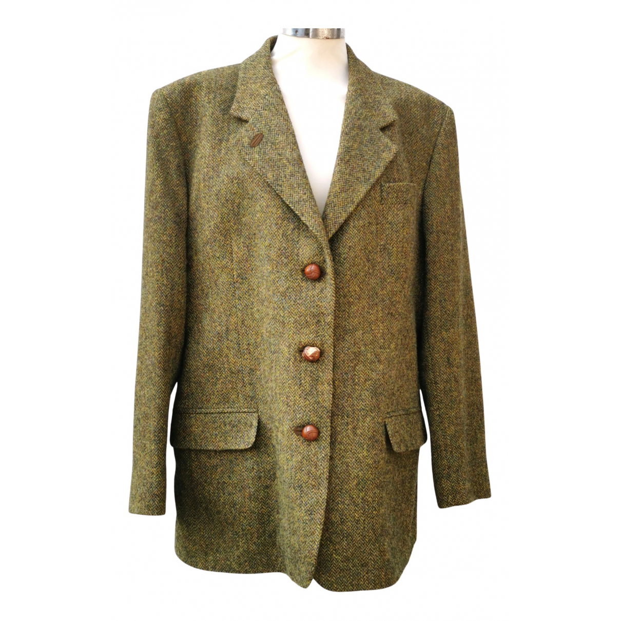 Non Signé / Unsigned N Green Wool jacket  for Men 46 IT