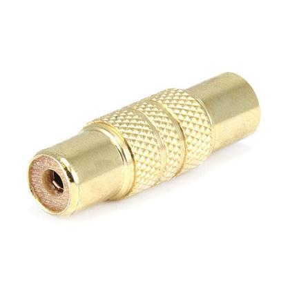 Adaptateur jack RCA métal vers RCA, plaqué or - Monoprice®
