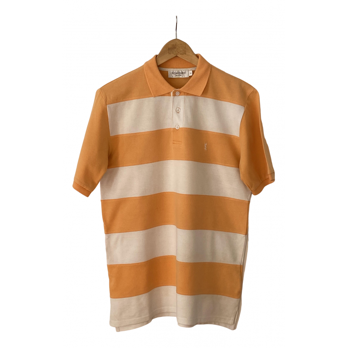 Polo en Algodon Naranja Yves Saint Laurent