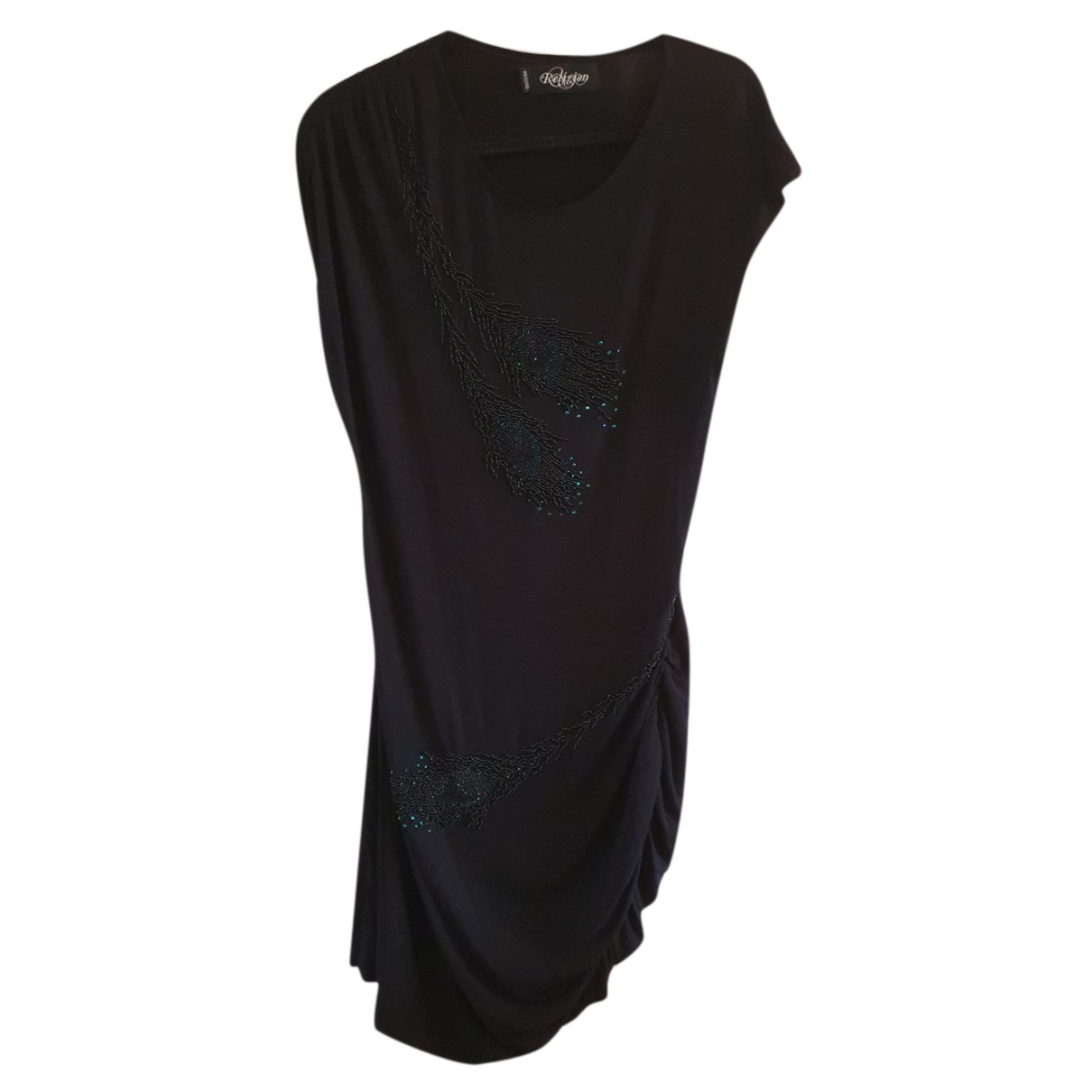 Religion N Black Cotton dress for Women 12 UK