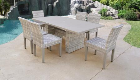 Fairmont Collection FAIRMONT-DTREC-KIT-6 Patio Dining Set With 1 Table  6 Armless Chairs - No
